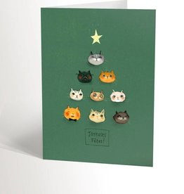 Valérie Boivin Illustrations Greeting Card - Christmas cat