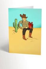 Valérie Boivin Illustrations Carte de souhaits - Cowboy romantique