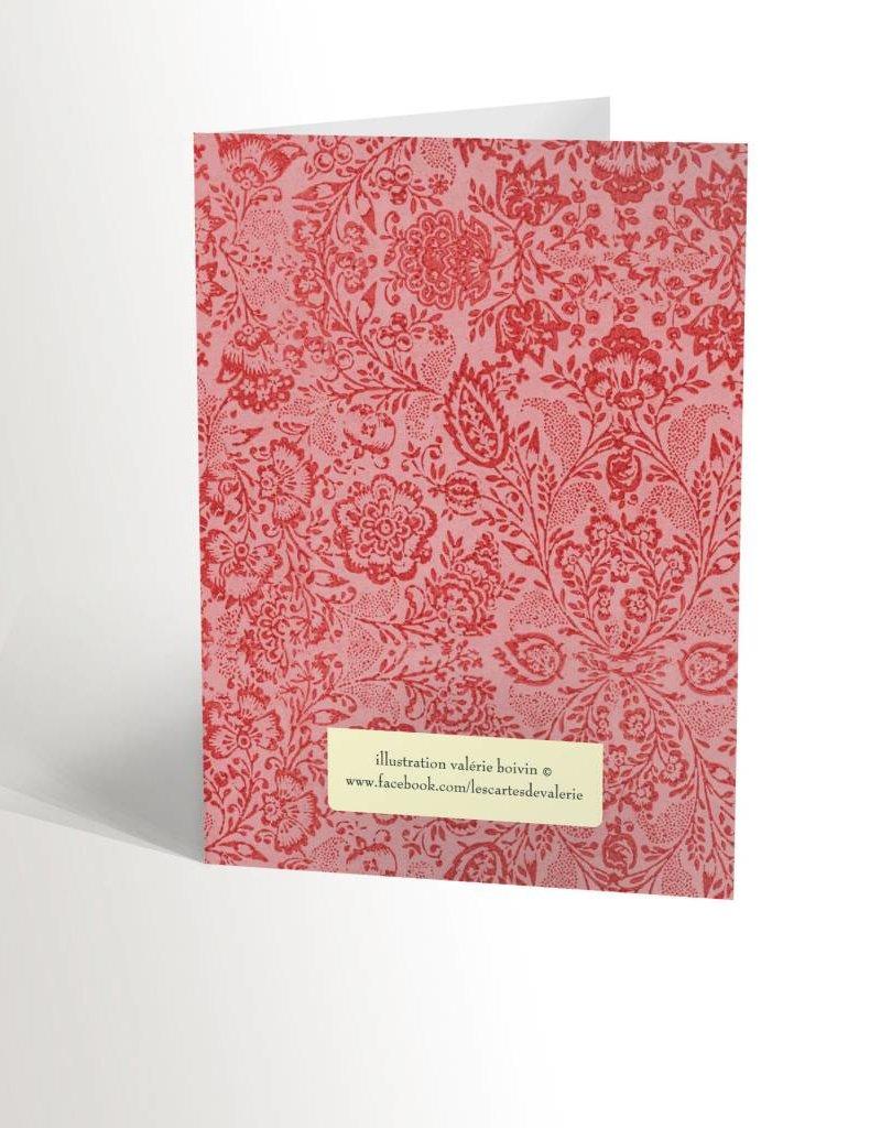 Valérie Boivin Illustrations Carte de souhaits - Flamant rose
