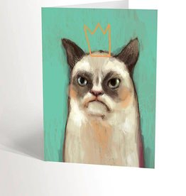 Valérie Boivin Illustrations Carte de souhaits - Grumpy cat