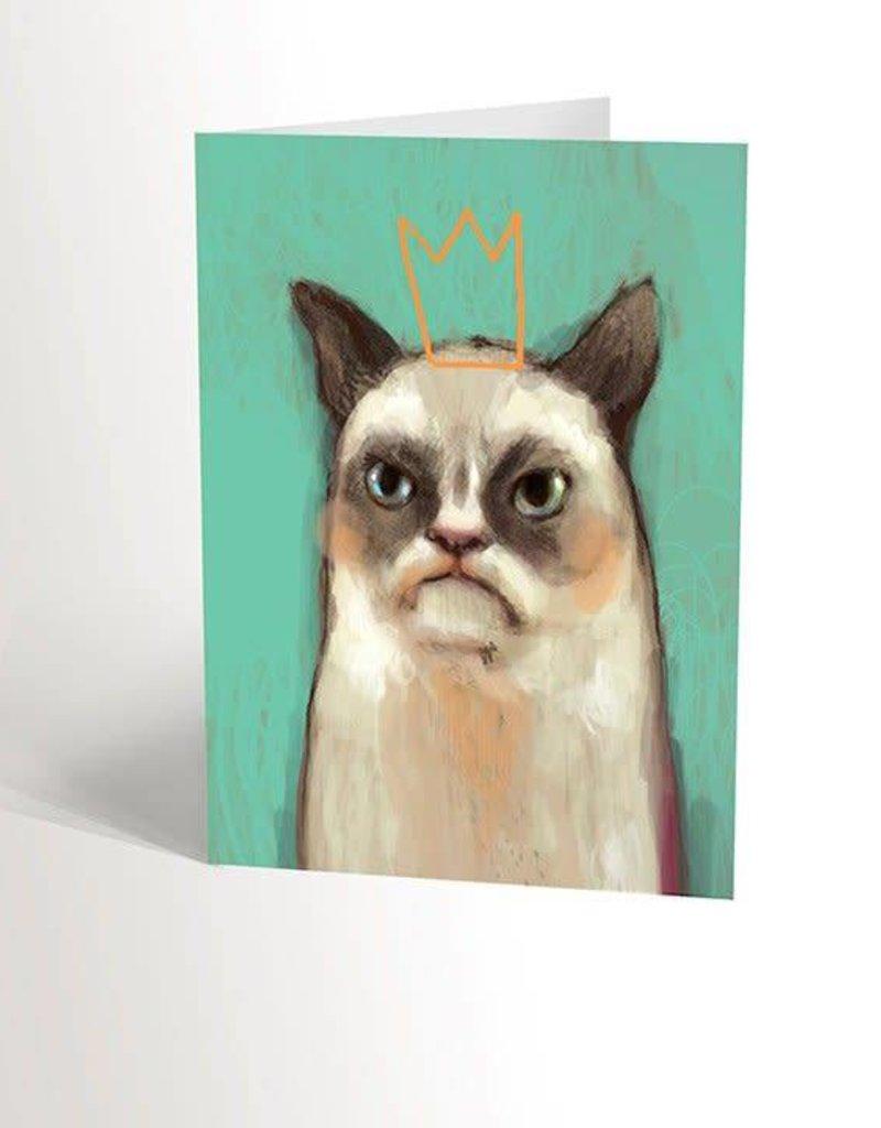 Valérie Boivin Illustrations Carte de souhaits - Grumpy cat