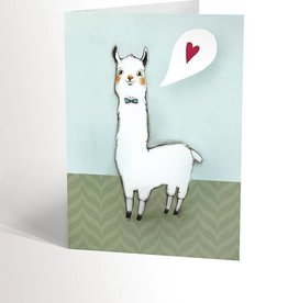 Valérie Boivin Illustrations Greeting card - Lama love