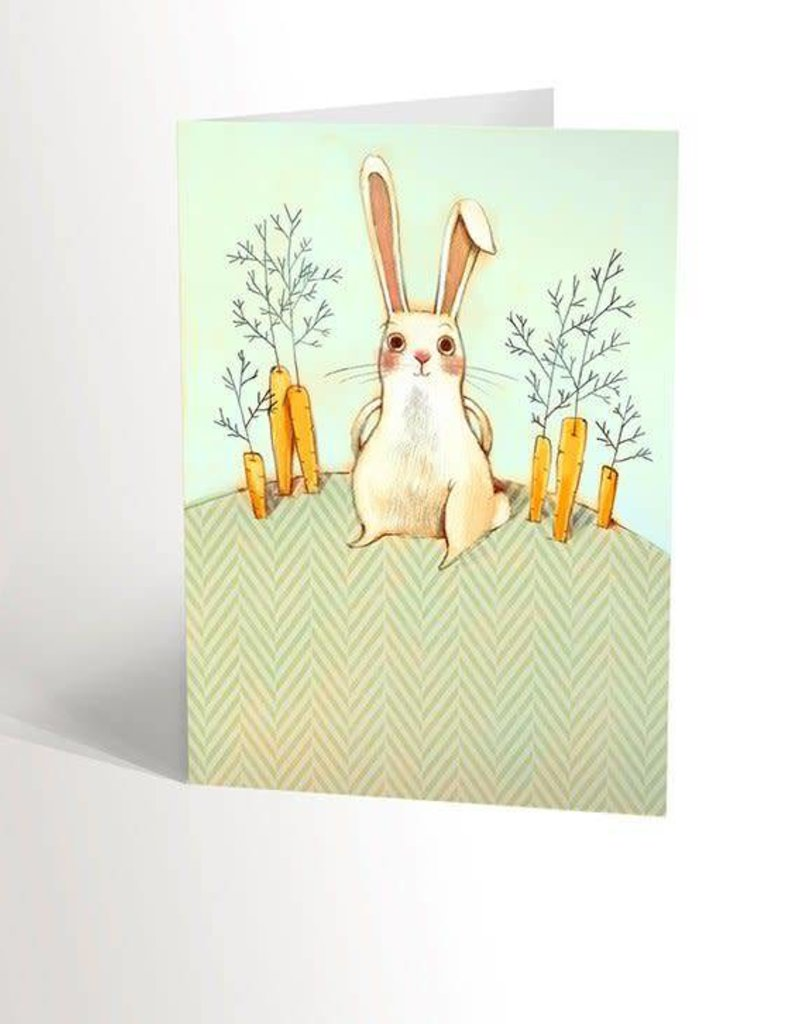Valérie Boivin Illustrations Greeting card - Rabbit in the garden