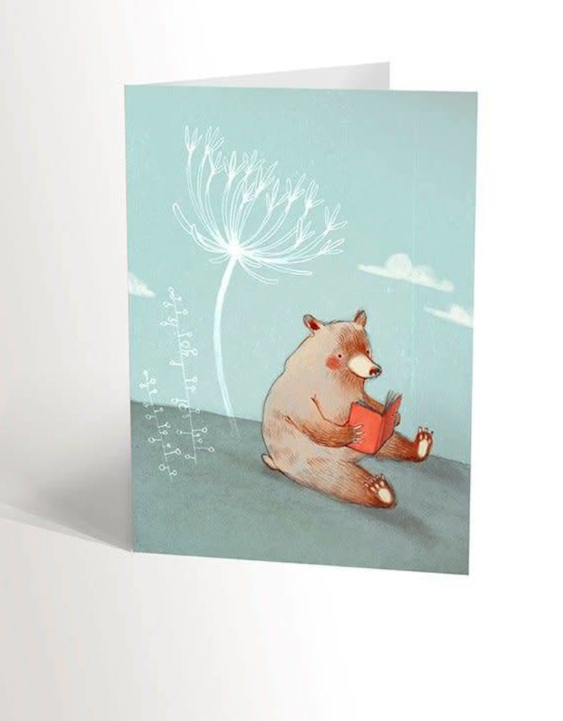 Valérie Boivin Illustrations Greeting card - The bear that reads