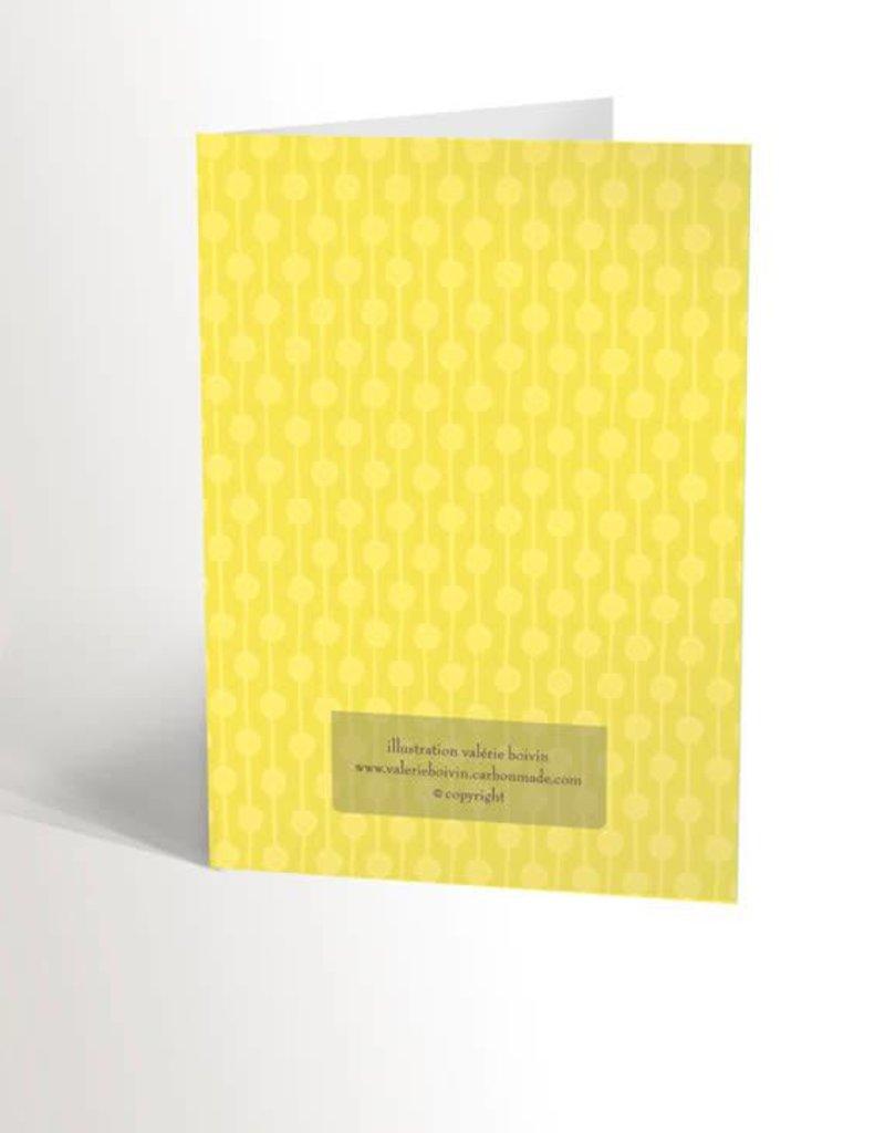 Valérie Boivin Illustrations Carte de souhaits - Nain de jardin
