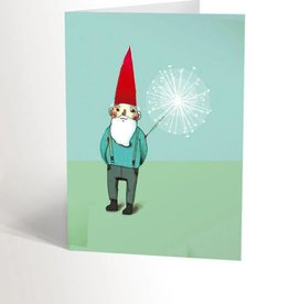 Valérie Boivin Illustrations Greeting Card - Garden Gnome