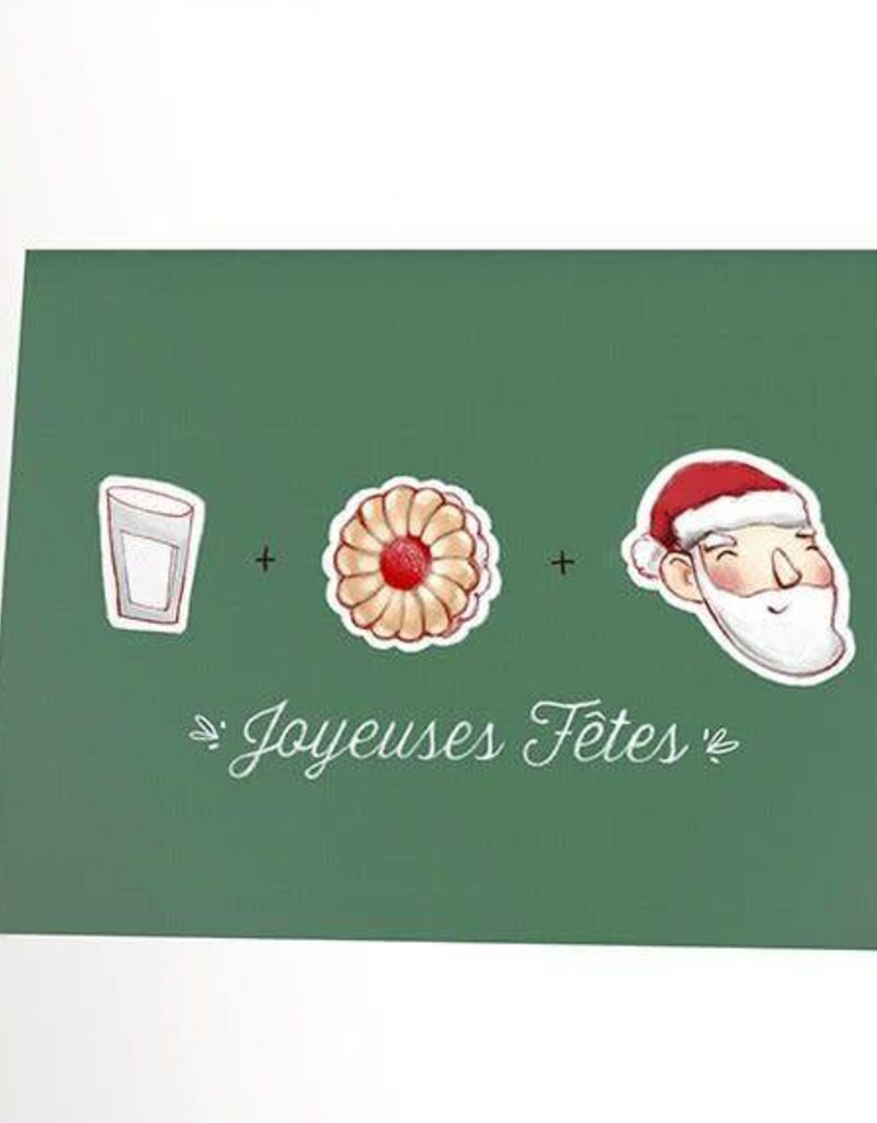 Valérie Boivin Illustrations Greeting Card - Christmas cookie