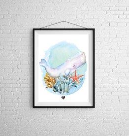 Zack et Livia Illustration - Whale