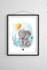 Zack et Livia Illustration - Éléphant