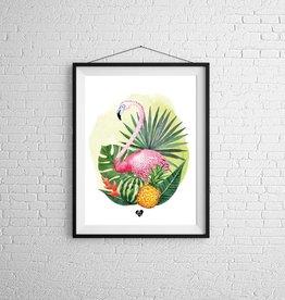 Zack et Livia Illustration - Flamingo