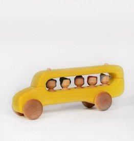 Atelier Cheval de bois Autobus scolaire