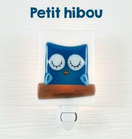 Veille sur toi Veilleuse - Petit hibou - Bleu