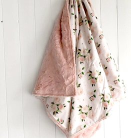 Les Petits Ziboo Blanket - Pink flower
