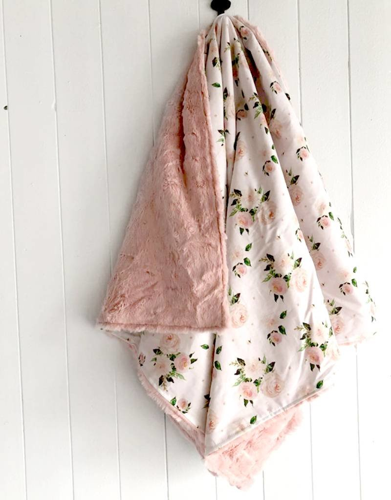 Les Petits Ziboo Couverture - Fleurs rosées