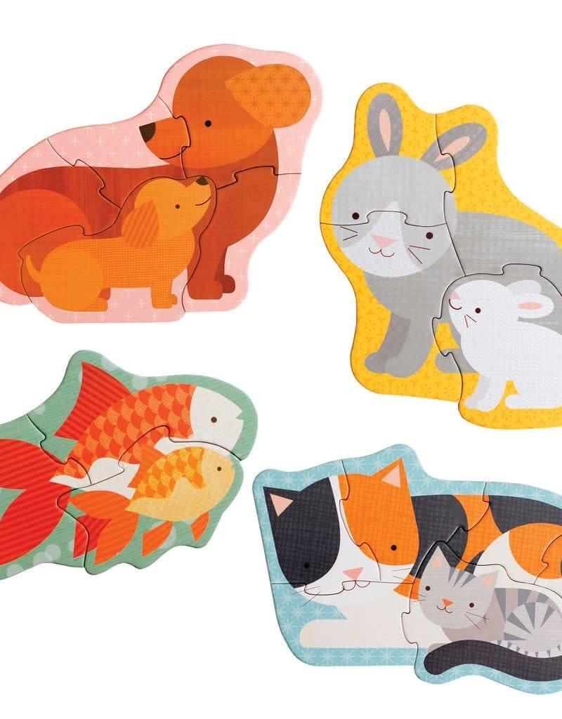 Petit Collage Casse-tête - Maman et Bébé Animaux 2+