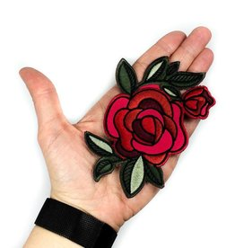 Tattoo It Écusson autocollant - Rose Rouge