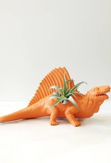 Dinature Dinosaure Plante - Grand - Orange avec crête