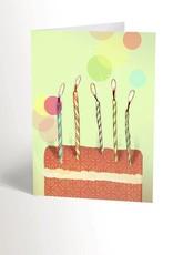 Valérie Boivin Illustrations Carte de souhaits - Gâteau d'anniversaire