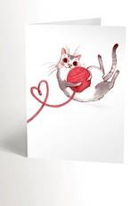 Valérie Boivin Illustrations Greeting Card - Cat