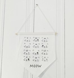 MLaure Decorative banner - White cats