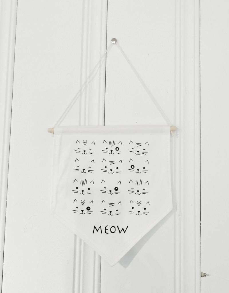 MLaure Fanion décoratif - Chat blanc