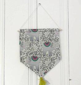 MLaure Decorative banner - Elephant