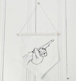 MLaure Decorative banner - white sloth
