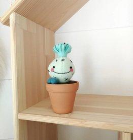 Pink Clémentine Cactus en feutrine - Menthe et turquoise