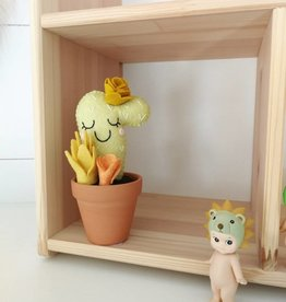 Pink Clémentine Cactus en feutrine - Jaune et moutarde