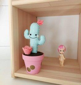Pink Clémentine Cactus en feutrine - menthe et rose