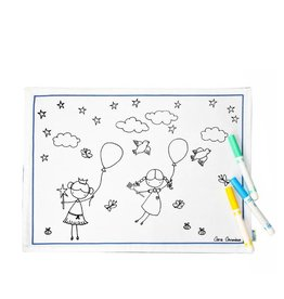 Couleur-Moi Placemat to color - Balloon