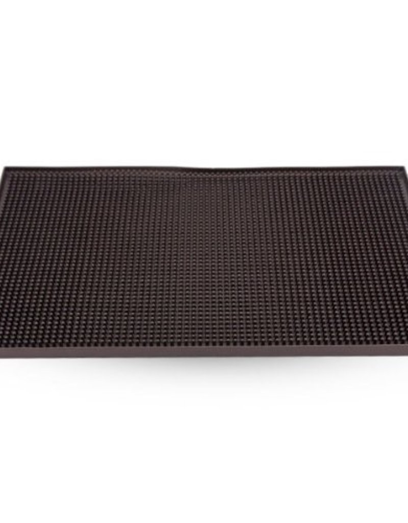 WINCO 18X12 Service Bar Mat, Black