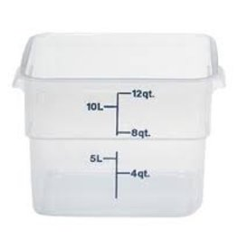 CAMBRO MANUFACT. COMPANY Cambro Square Food Storage Container 12Qt, Translucent