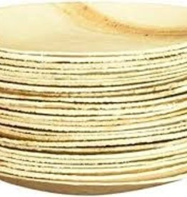 "Leafware LEAFWARE 6"" Disposable Palm Leaf Round Plates 25ct"