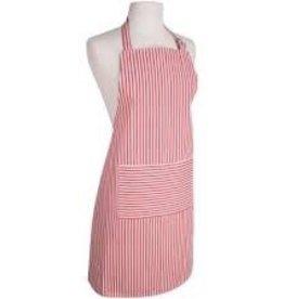 NOW DESIGNS Now Designs Basic Apron Narrow Stripe Red