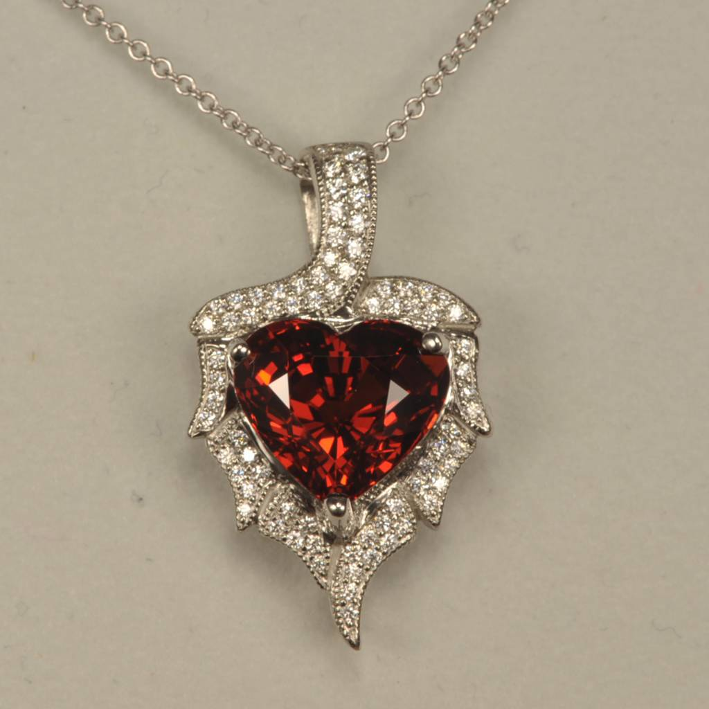 Pyrope red garnet and diamond pendant screaming red color best cajuel pyrope red garnet and diamond pendant screaming red color best aloadofball Images