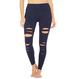 AlO 7/8th HIGH-WAIST RIPPED WARRIOR LEGGING