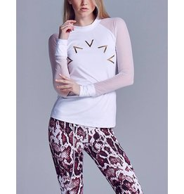 VARLEY CLOVER WHITE SWEAT LONG SLEEVE TOP