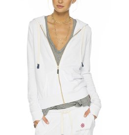 PEACE LOVE WORLD SEA LIFE'S BEAUTY WHITE LOVE2LOVE LIGHT ZIP HOODIE