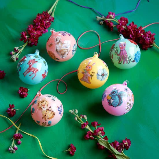 """Ball Ornamant, Assorted, Glass 4"""""""
