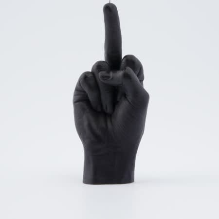 Hand Gesture Candle Fcuk You: Black