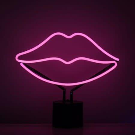 Amped Neon Lips Desk Lamp