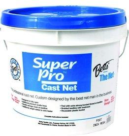 "Betts Net 12' 3/4"" Mesh 1.7Lb Lead per Ft Betts 22-12 Super Pro Heavy Cast"