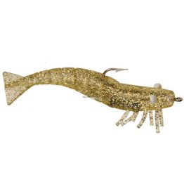 DOA 1/4 oz, Gold Glitter, 3/Pack DOA FSH3-3P-313 Shrimp Lure, 3