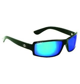 Calcutta Shiny Black Frame/Blue Mirror Lens Calcutta NW1BM New Wave Sunglasses