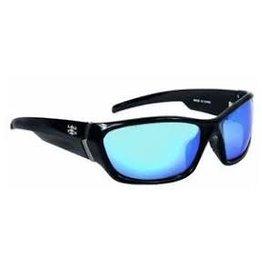 Calcutta Shiny Black/Blue Mirror 62mm Lens Calcutta IL1BM Islander Sunglasses