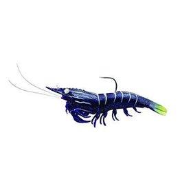 """LiveTarget Plastic Pre-Rigged 3"""" 1/4 oz black LiveTarget SSF75SK922 Shrimp Soft"""