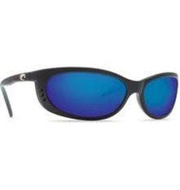 Costa 580P Blue Mirror, Matte Black Nylon Costa FA11OBMP Fathom Sunglasses