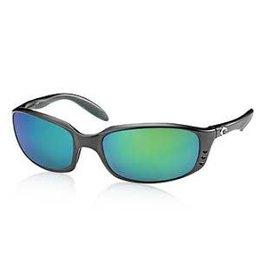 Costa 400G Green Mirror, Matte Black Costa BR11GMGLP Brine Sunglasses