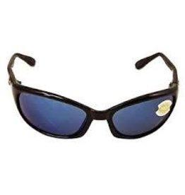 Costa 580P Blue Mirror, Shiny Black Nylon Costa HR11OBMP Harpoon Sunglasses